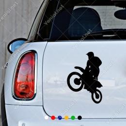 Motor Yarışı Motocross Sticker Yapıştırma