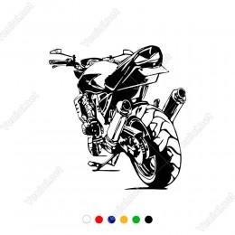 Motorsiklet Motor Araç ve Duvar İçin Sticker Yapıştırma
