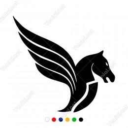Pegasus Uçan At Başı Yunan Mitoloji At Sticker