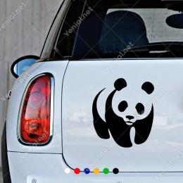 Sevimli Panda Yavrusu Sticker Yapıştırması