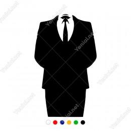 Şık Erkek Takım Elbise Sticker Yapıştırma