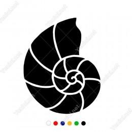 Sipral Şekilde Deniz Kabuğu Sticker Yapıştırma