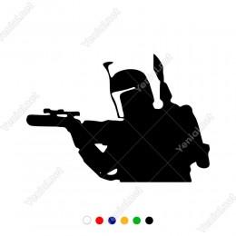 Star Wars Boba Fett Yapıştırma Sticker7