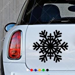 Tek Adet Yılbaşı İçin Kar Tanesi Etiket Sticker Yapıştırma
