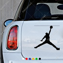 Tek Elle Jordan Smacı Basan Sticker