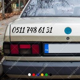 Telefon Numarası Özel Sticker Araç Araba Motor Sticker 2 Adet