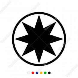 Tribal Compass Nautical Star-Pusula Deniz Yıldız Sticker