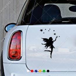 Uçan Melek ve Küçük Büyük Yıldızlar Duvar Sticker