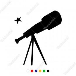 Uzayı İncelemek İçin Kullanılan Merckli Fotoğraf Makinesi Sticker