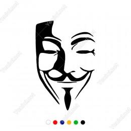 V For Vandetta Maske Sticker Yapıştırması