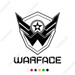 Warface Logosu Maskesi Sticker Yapıştırma