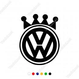 Wosvagen Araç Logo Kral Tacı Otomobil Sticker Yapıştırma