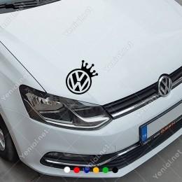 Wosvagen Taçlı Araba Logosu Sticker Yapıştırma