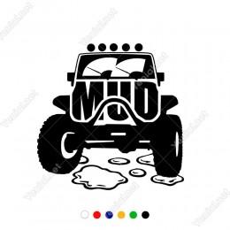Yağmurdan Çamurdan Etkilenmeyen MUD Jeep Sticker Yapıştırma