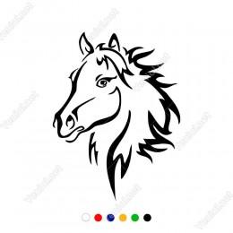Yeleleri Uçuşan At Başı Sticker Yapıştırma