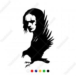 Yere Konmaya Çalışan Kuş ve Vampir Etiket Sticker Yapıştırma