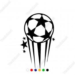 Yıldız Ve Futbol Topu Etiket Sticker Yapıştırma