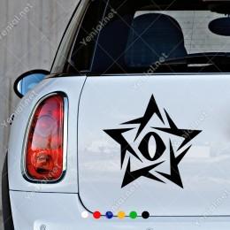 Yıldız Sertlerden Oluşan Ve İçinde Mordorun Gözü Olan Sticker