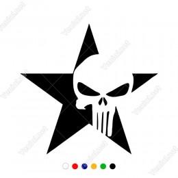 Yıldızın İçinde Punisher Ambilemi Olan Sticker