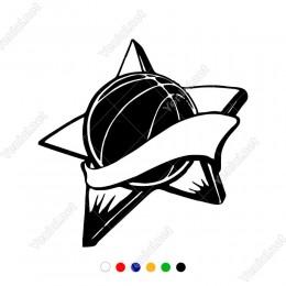 Yılzdı ve Pasketbol Topu Etiket Sticker Yapıştırma