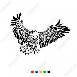 Yırtıcı Kartal Kuş Etiket Sticker Yapıştırma