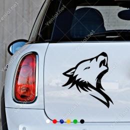 Yırtıcı Yeleli Aslan Araç Araba Duvar Sticker