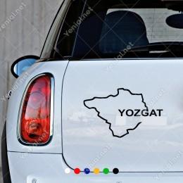 Yozgat Haritası Araç ve Duvar İçin Sticker Yapıştırma