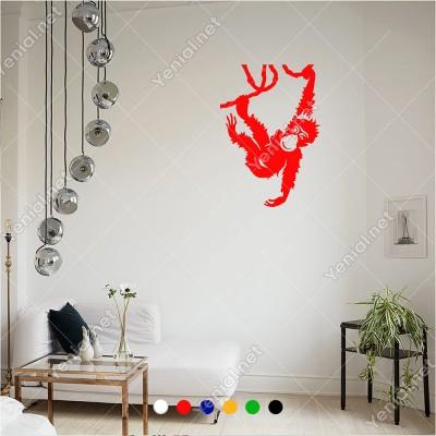 Ağacın Üzerinde Sallanan Maymun 40x60 cm Duvar Sticker