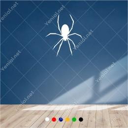 Aşağıya Doğu İnen Sekiz Ayaklı Örümcek 50x60 cm Duvar Sticker
