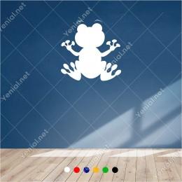Aşırı Sevimli Görünen Kurbağa 60x60 cm Duvar Sticker