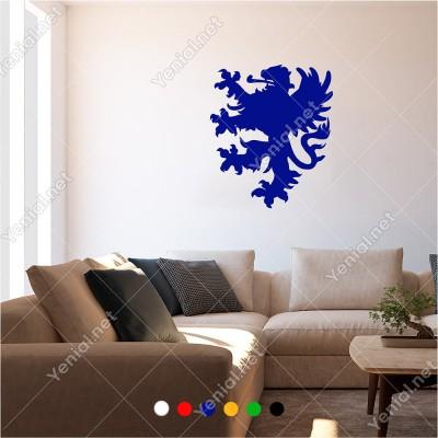 Aslan Görünümlü Kızgın Ejderha 50x60 cm Duvar Sticker