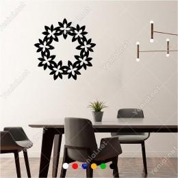 Birbirine Bağlanmış Papatya Kapı Süslmesi 60x60 cm Duvar Sticker