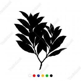 Çift Dallı Uzun Yapraklı Zeytin Dalı Sticker