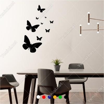 Farklı Ebat ve Ölçülerde Kelebekler 60x42 cm Duvar Sticker