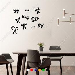 Farklı Ebat ve Ölçülerde Kurdela 60x60 cm Duvar Sticker