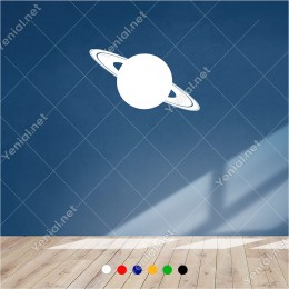 Galaksi den Gezegenlerden Uzay Simgesi 60x30 cm Duvar Sticker