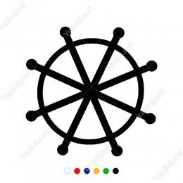 Gemi  ve Kayıkların Dümeni Duvar Sticker