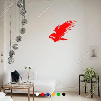 Hızlı Bir Şekilde Uçan Kızgın Kartal Doğan 60x46 cm Duvar Sticker