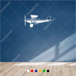 İlk Uçaklardan Eski Tarihi Tayyare 60x30 cm Duvar Sticker