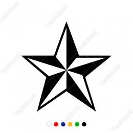 Işık Gölge Oyunu Olan Yıldız Sticker