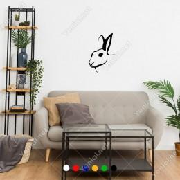 Koklayan Sevimli Tatlı Korkak Tavşan Sticker