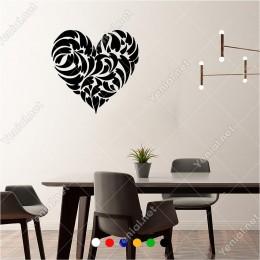 Küçük Kalpler İçinde Büyük Kalp 60x60 cm Duvar Sticker