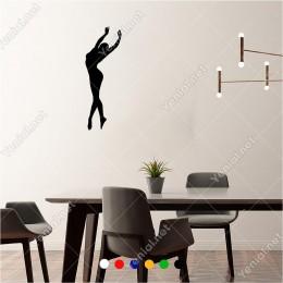 Parmakları Üzerinde Dans Eden Danscı 20x60 cm Duvar Sticker
