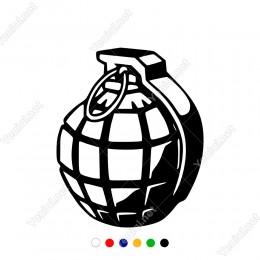 Renkler Dengeli Şekilde Kullanılmış El Bombası Sticker