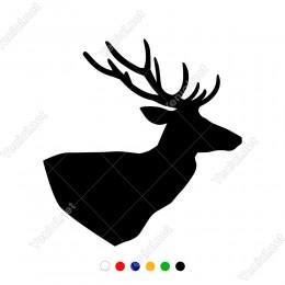 Sağa Doğru Bakan Uzun Boynuzlu Geyik Sticker
