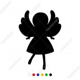 Sevimli Şekilde Duran Kanatlı Melek Sticker