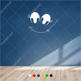 Sevimli Şekilde Duran Simile Simgesi 60x45 cm Duvar Sticker