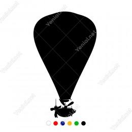 Sıcak Hava Balonu Hacada Uçuyor Sticker