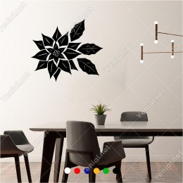 Şık Bir Şekilde Oluşturulmuş Çiçek Deseni 60x50 cm Duvar Sticker