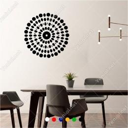Tane Tane Birbiri Etrafında Dönen Noktalar 60x60 cm Duvar Sticker